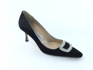 Manolo Blahnik Black pony Pumps