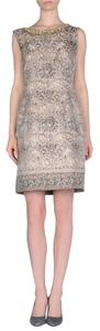 Alberta Ferretti Jacquard Embroidered Sleeveless Dress