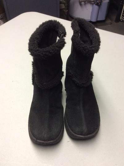 Gap Winter Anklet Wedge Heel Suede Leather 5m 6m Black Boots