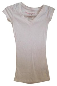 Aéropostale V Neck Ribbed T Shirt White