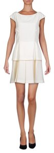 Ermanno Scervino short dress white Made In Italy Pleated on Tradesy