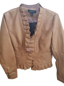 Bagatelle Ruffled Trim Cropped Butterscotch Jacket