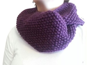 Other Handmade Infinity Plum Scarf