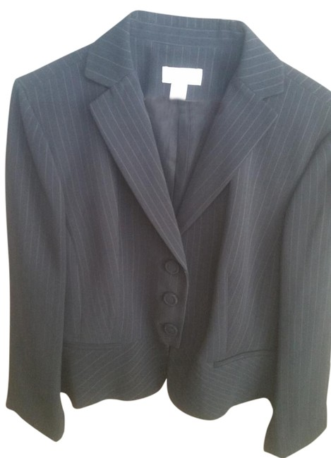 Preload https://item5.tradesy.com/images/ann-taylor-black-wivory-and-blue-pin-stripes-blazer-size-petite-14-l-16698634-0-1.jpg?width=400&height=650