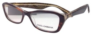 Dolce&Gabbana New DOLCE & GABBANA Rx-able Eyeglasses DG 3168 2738 53-16 Havana on Gold Frames