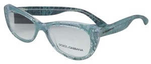 Dolce&Gabbana New DOLCE&GABBANA Rx-able Eyeglasses DG 3166 2729 51-16 Clear Frame w/ Teal Blue Lace