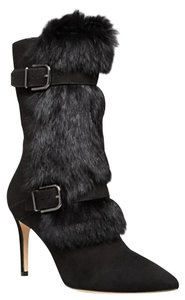 Via Spiga Suede Rabbit Fur black Boots