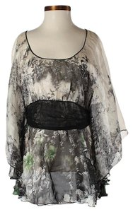 Bailey 44 Silk Floral Ruffle Tunic
