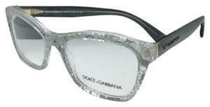 Dolce&Gabbana New DOLCE&GABBANA Rx-able Eyeglasses DG 3198 2855 54-18 Clear Frame w/ Green Lace