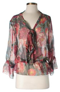 Haute Hippie Silk Floral Top