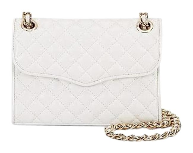 Item - New Mini Quilted Affair White/Gold Leather Shoulder Bag