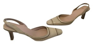 Coach Tipping Seams Tan all leather Pumps