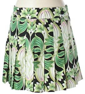 Laundry by Shelli Segal Pleated Silk Floral Mini Skirt