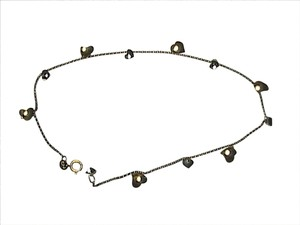 Vintage 10k Yellow Gold Heart Anklet/ Bracelet