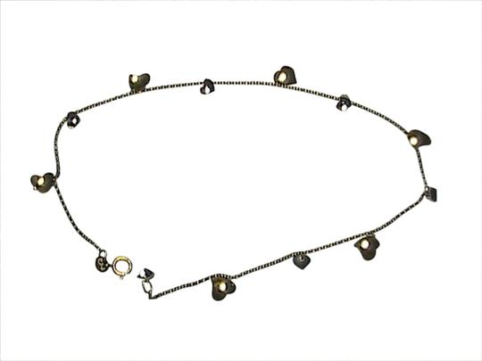 Preload https://item2.tradesy.com/images/10k-yellow-and-white-gold-heart-anklet-bracelet-1670046-0-0.jpg?width=440&height=440