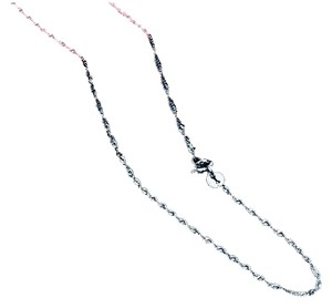 SALE!! BRAND NEW! BEAUTIFUL 2MM CLASSIC WAVE CHAIN NECKLACE IN .925 SOLID STERLING SILVER!