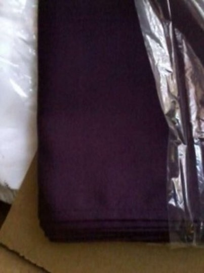 Eggplant Polyester Napkins Lot Tableware