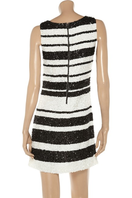 Alice + Olivia White Sequin Party Dress