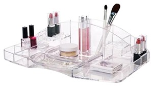 US Acrylic Large ACRYLIC MAKEUP COSMETICS ORGANIZER Storage Vanity Closet Drawer CLEAR NEW