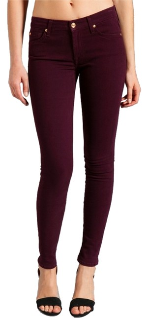 Item - Purple Coated Skinny Jeans Size 28 (4, S)
