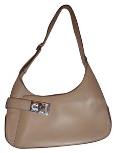 Salvatore Ferragamo Handbag Hobo Clutches Satchel in cream /off white / camel