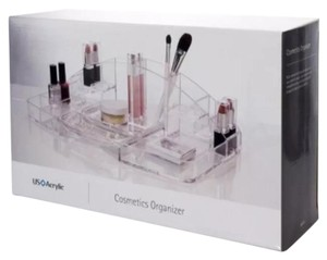 US ACRYLIC Large ACRYLIC MAKEUP COSMETICS ORGANIZER CLEAR NEW