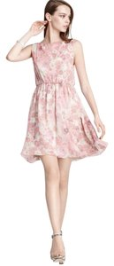 Alice + Olivia short dress Pink 100% Silk Floral on Tradesy