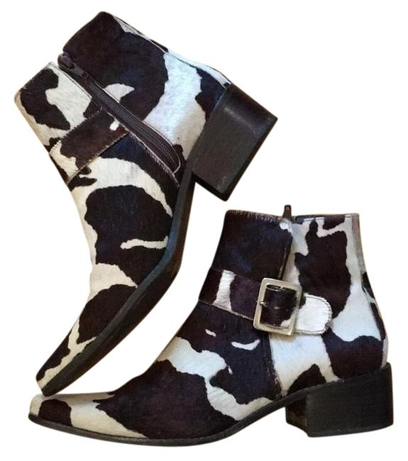 Item - Brown & White Pony Haired Boots/Booties Size US 8 Regular (M, B)