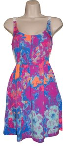 Hurley short dress Multi-Colored, Pink, Purple, Blue, Orange Summer Lace on Tradesy