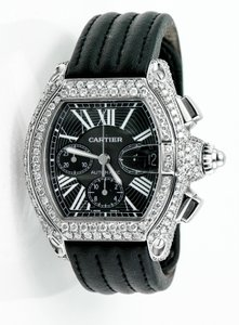Cartier Cartier Roadster Ref. 2618 w/ 12.16 Total Carats VS1 Clarity Paved Diamonds Chronograph Watch