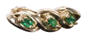 Gold & Emerald .36ctw on 14k yellow Gold