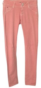 Hudson peach color lightweight skinny jeans Skinny Jeans