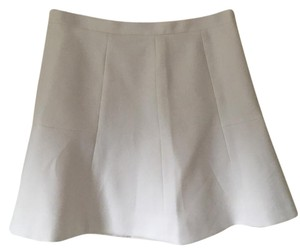 J.Crew Mini Date Night Mini Skirt Off white