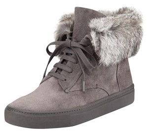 Vince Suede Rabbit Fur Sneakers Grey Boots
