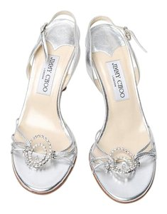 Jimmy Choo Strappy Fancy Evening Pretty silver Formal