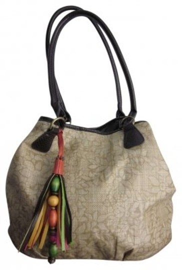 Other Bueno Brown Floral Tassel Tote