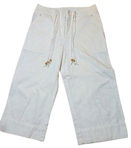 Ralph Lauren Cropped Draw String Size 8 Capri/Cropped Pants White