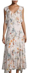 Nude Pink floral Maxi Dress by Rebecca Taylor
