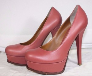 Fendi Leather High Hell Coral Pumps