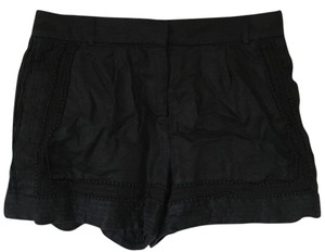 J.Crew Lace Trim Linen Dress Shorts Black