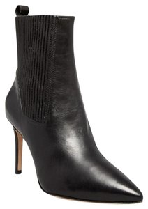 Via Spiga Leather Pointed Toe Black Boots