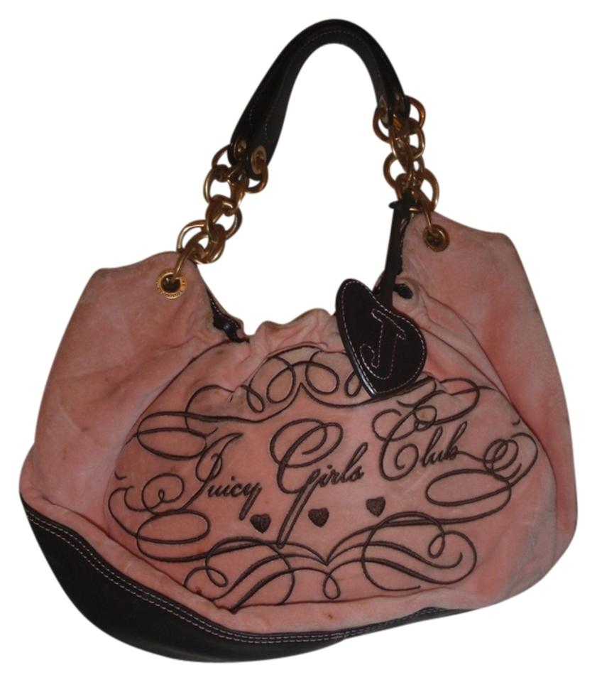 Juicy Couture Pink Suede   Leather Shoulder Bag - Tradesy 72065932e