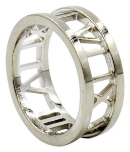 Tiffany & Co. Atlas Open Band Ring in 18k White Gold, Size 5