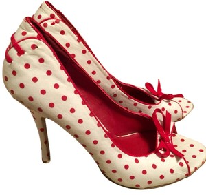 Bakers Red And White Pumps