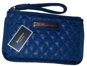 Juicy Couture Nylon Quilted Monogram Wristlet in Navy