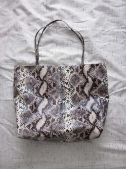 Saks Fifth Avenue Faux Snakeskin Tote