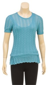 Louis Vuitton Short Sleeve Knit Clothes Top Blue