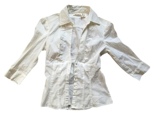 DKNY Shirt Jeans Button Down Shirt White