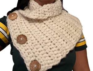 Other Cream Wool Scarf