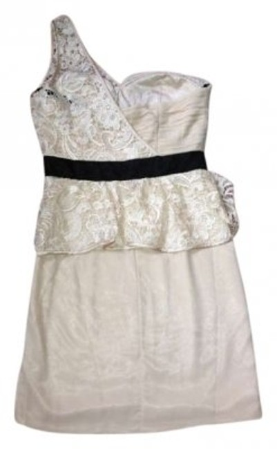 Preload https://img-static.tradesy.com/item/167060/river-island-cream-with-black-belt-wedding-outfit-glam-night-out-rehersal-dinner-lace-one-shoulder-l-0-0-650-650.jpg